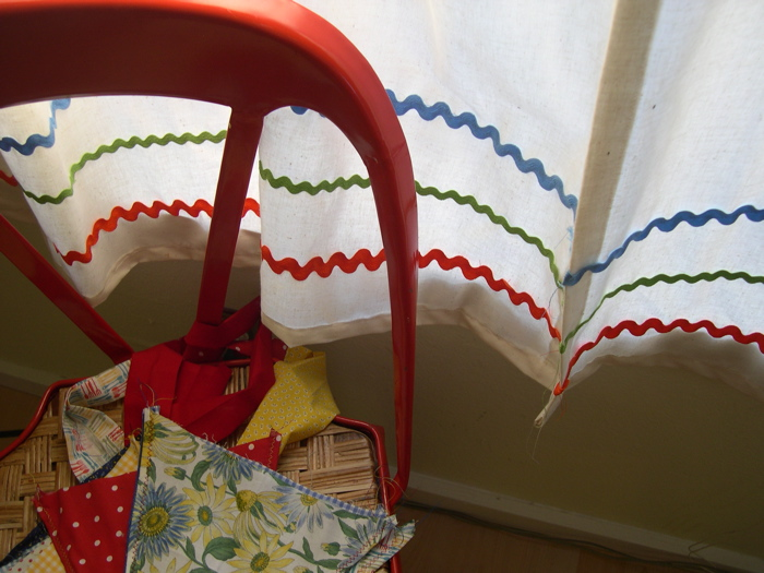 Chair with bunting